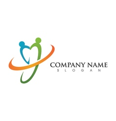 Community care logo vector