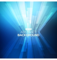 Abstract blue geometric background 3D perspective vector image vector image