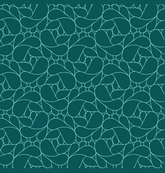 Abstract linear seamless pattern on dark teal vector