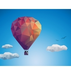 Air balloon couple vector image