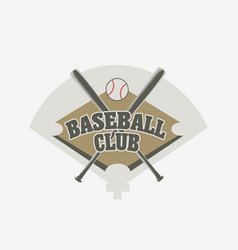 Baseball club logo badge or symbol design concept vector