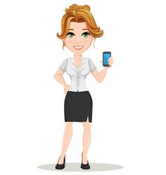 businesswoman 12 vector image