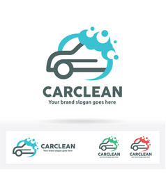 car wash logo vector image vector image
