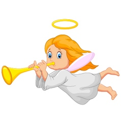 Cartoon cute angel vector