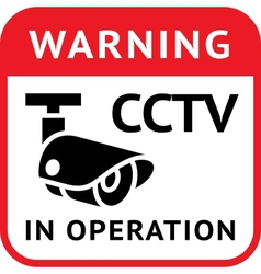 Cctv warning symbol vector