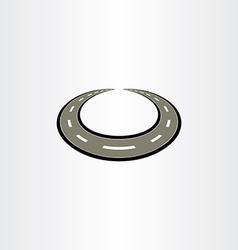 circle highway road icon vector image