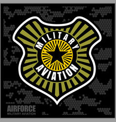 Fighter squadron airforce - military aviation vector