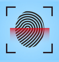 finger print icon scanning vector image
