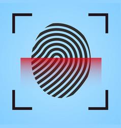 Finger print icon scanning vector