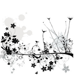 floral line vector image