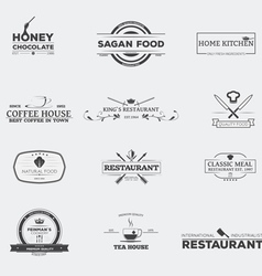 Food restaurant emblems vector image