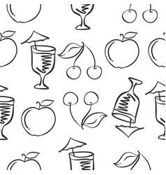 fresh drink hand draw doodles vector image vector image