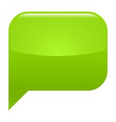 Green glossy speech bubble blank location icon vector