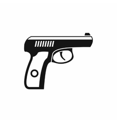Gun icon simple style vector image