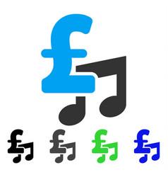 Music pound price flat icon vector