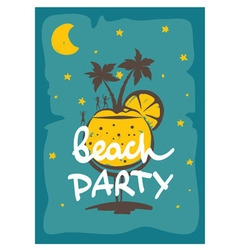 Party on the beach vector image vector image
