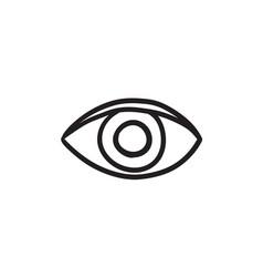 Publish content button sketch icon vector