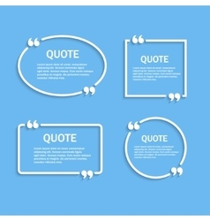 Quote outline frames with commas set vector