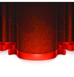 Red vintage background vector image vector image