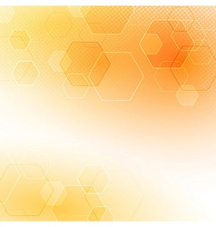 Solar abstract hexagon background vector image