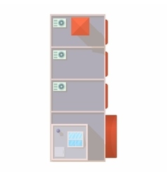 Top view of modern building icon cartoon style vector