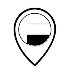 United arab emirates location pin vector