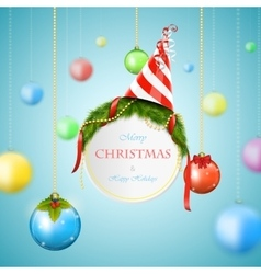 White Christmas billboard vector image