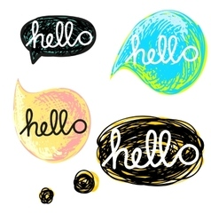 with speech bubble vector image vector image