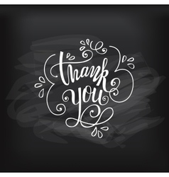 Thank you on chalkboard vector