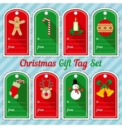 Christmas gift tag design set vector