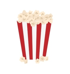 Isolated popcorn snack vector