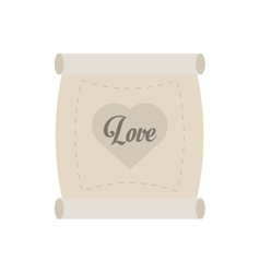 Love parchment message heart vector