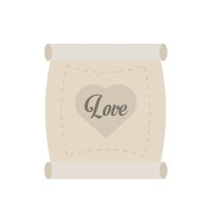 love parchment message heart vector image