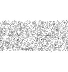 ornate seamless border in eastern style vector image