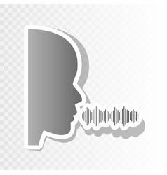 People speaking or singing sign  new year vector