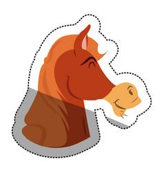 Isolated horse cartoon design vector