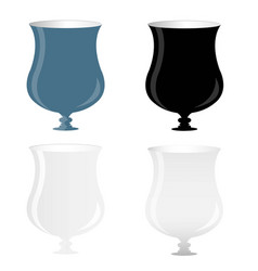 wine glass with luxury vector image