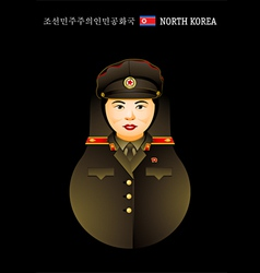 Matryoshka north korea vector