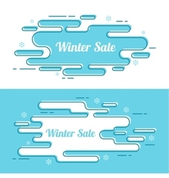 Set of festive winter banner vector