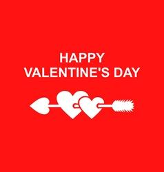 valentine arrow vector image