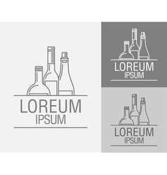 Emblem in the drinks menu vector