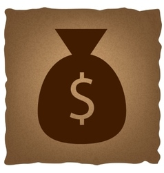 Money bag sign vector