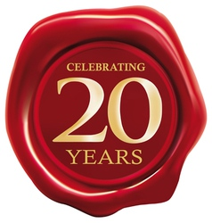 celebrating 20 years vector image