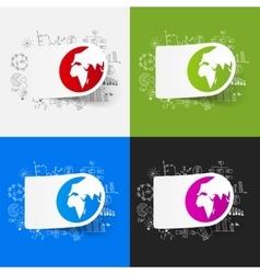 Drawing business formulas globe vector