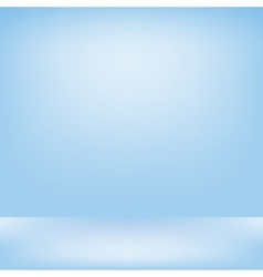 Blue studio backdrop interior vector