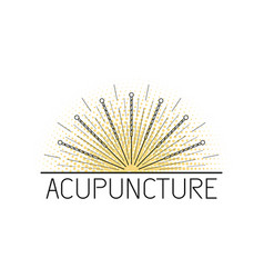 acupunkture traditional chinese medicine vector image