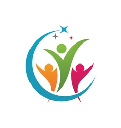 Adoption and community care logo vector