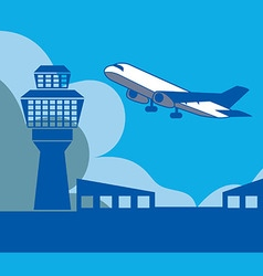 Airport background vector