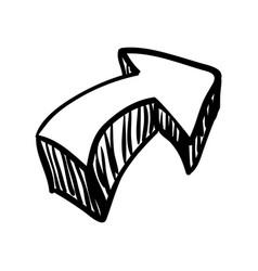 Arrow doodle draw vector