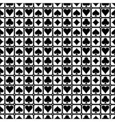 card symbols vector image vector image